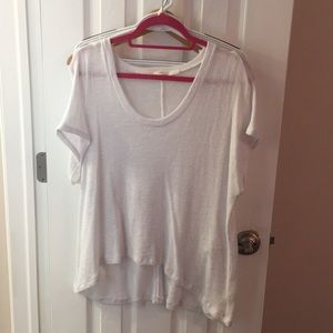 Tops - White sheer t-sweater - free w purchase!